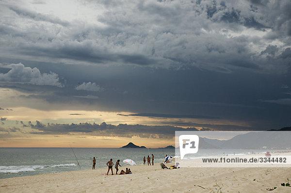 A beach at dusk  Brazil.
