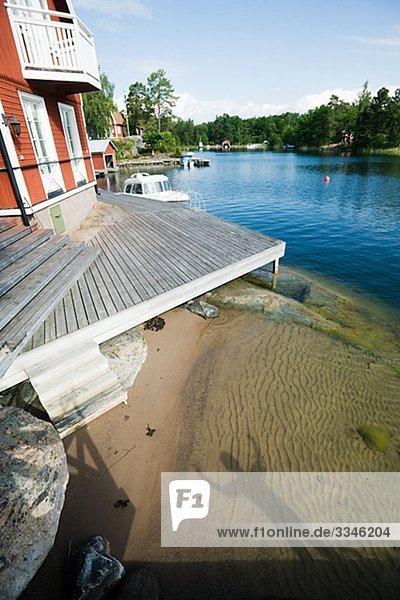 Mensch Schatten Sand Stockholms län