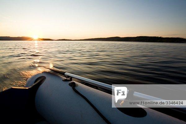 A boat trip  Angermanland river  Sweden.