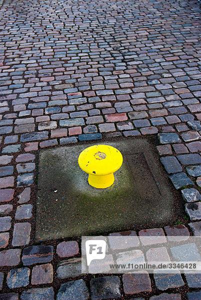 Anlegeplatz auf Pflastersteine  Schweden.