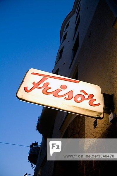 An old sign  Sweden.