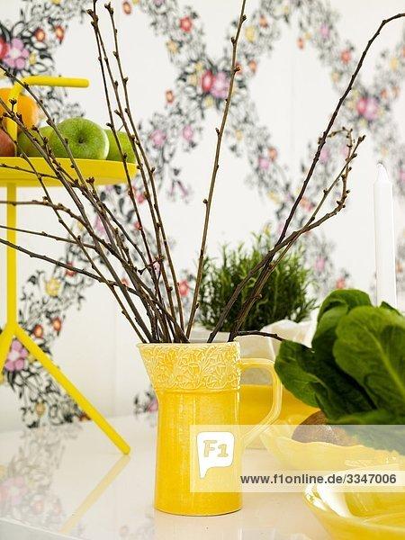 Detail Details Ausschnitt Ausschnitte gelb Dekoration