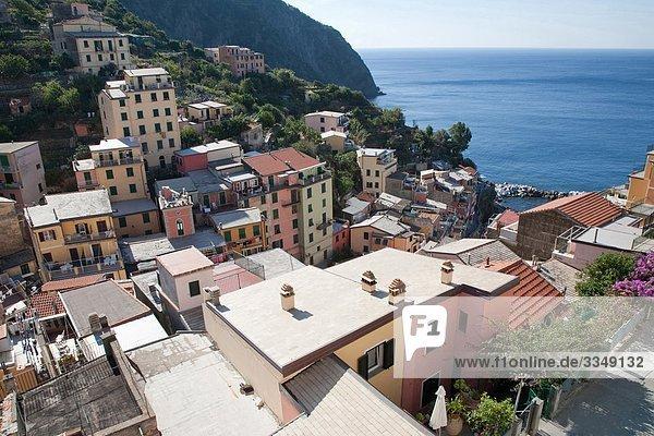 Italy  Liguria  Cinque Terre  Riomaggiore village