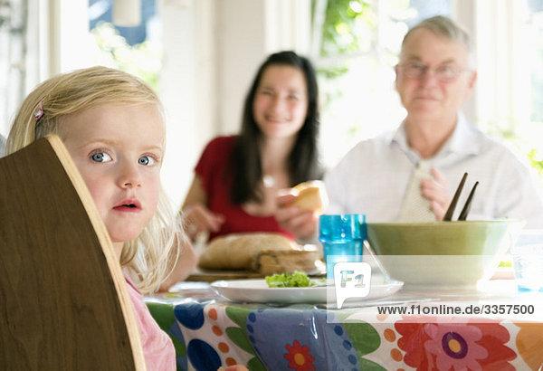 Abendessen mit der Familie