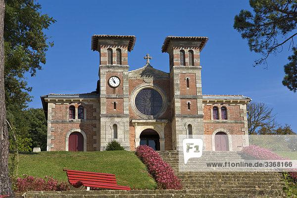 Kirche Notre Dame des Passes  Le Moulleau  Gironde  Frankreich