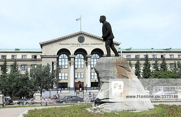 Statue von sverdlov yekaterinburg