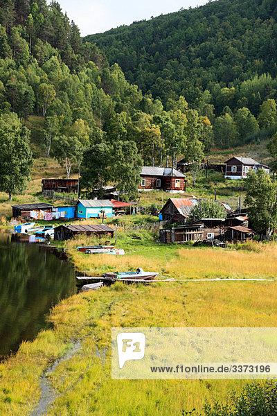 Dorf am Baikalsee