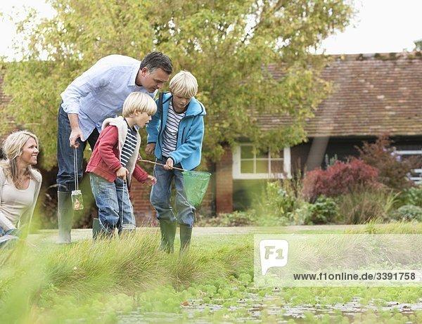 Familienerholung am Teich