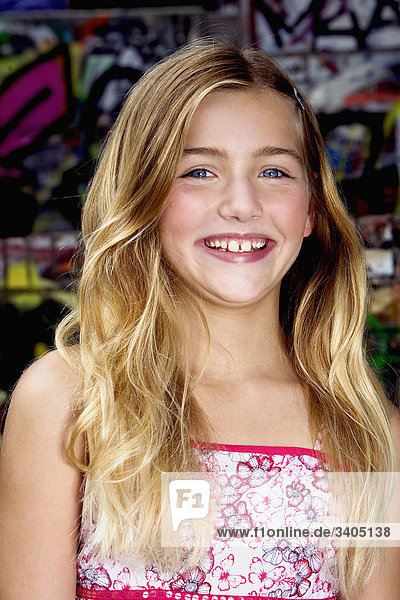 Portrait von blond girl
