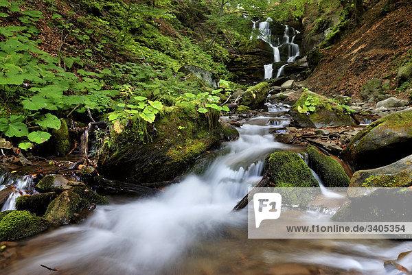 Shipot Wasserfall in Zakarpatie Region der ukraine