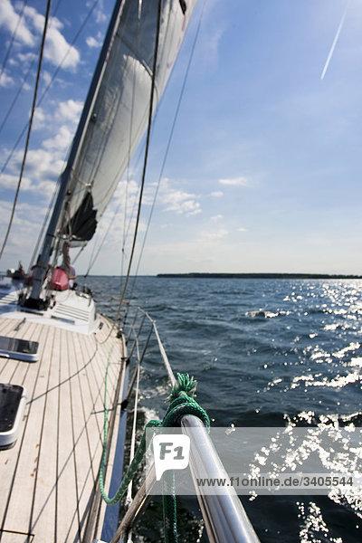 Segelyacht auf der Ostsee zwischen Flensburg und Sonderburg