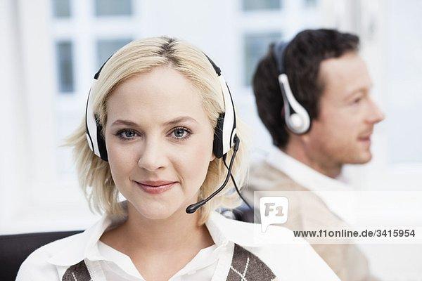 Weibliches Call Center Agent Portrait