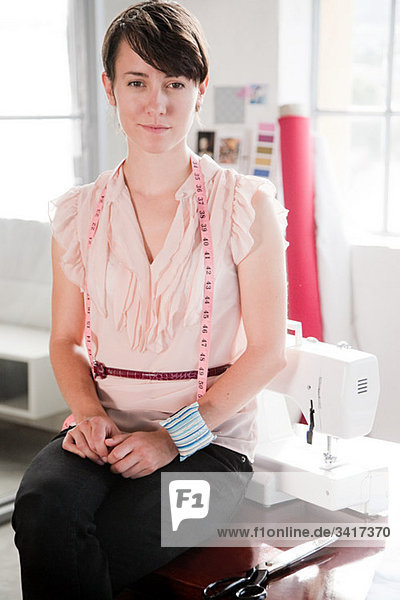 Modedesignerin  Porträt Modedesignerin, Porträt