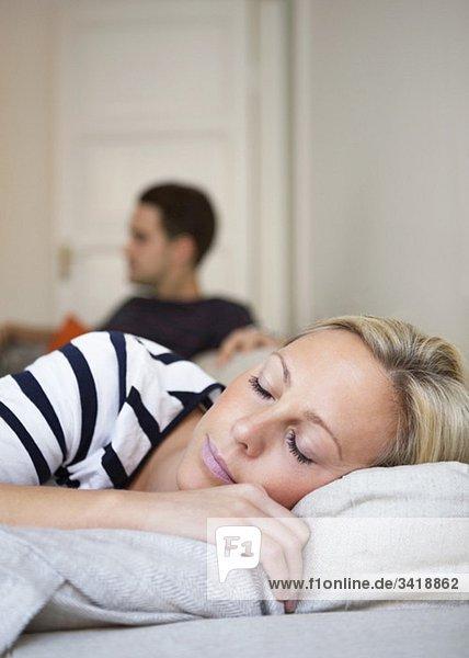 Schlafende Frau Schlafende Frau