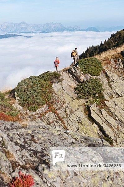Österreich  Steiermark  Reiteralm  Wandererpaar