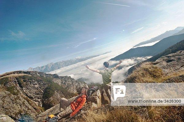 Österreich  Steiermark  Reiteralm  Wandern in den Bergen