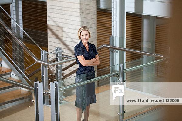 Geschäftsfrau Stiegenhaus