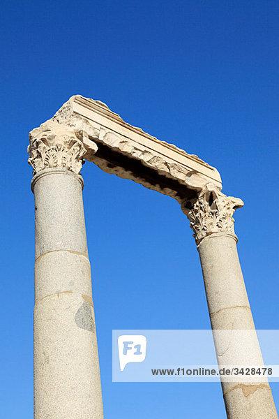 Römische Säulen der Agora in Izmir Türkei