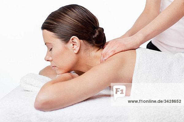 Hure Mit Riesentitten Bei Einer Massage