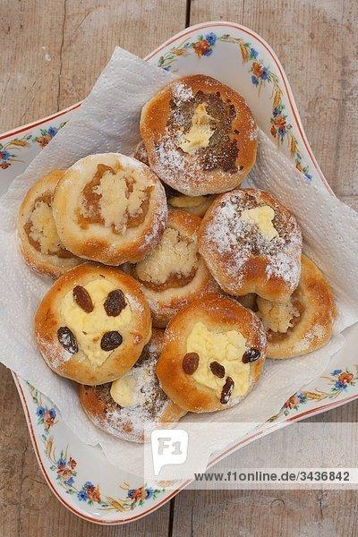 Kolace - typische traditionelle süßem Gebäck aus Böhmen  Tschechische Republik