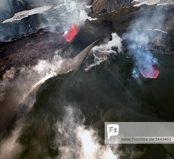 Ausbruch des Vulkans Eyjafjallajökull  Island