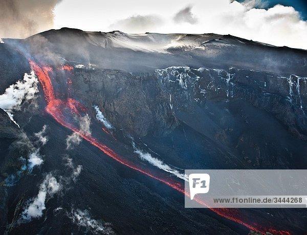 Ausbruch des Vulkans Eyjafjallajökull  Island Ausbruch des Vulkans Eyjafjallajökull, Island