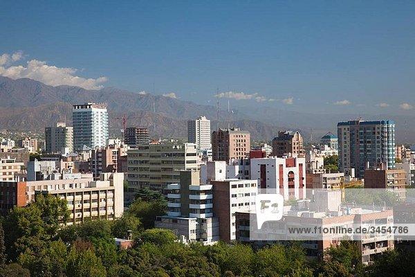Argentina  Mendoza Province  Mendoza  city from town hall Terrazza Mirador roof garden