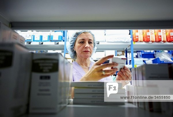 Fungible medical material and medicines storage  surgical block. Hospital Policlinica Gipuzkoa  San Sebastian  Donostia  Euskadi  Spain