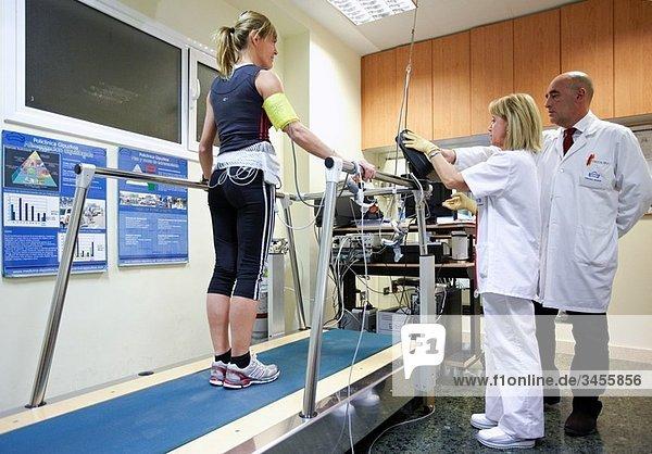 Cardiac stress test  sports medicine. Hospital Policlinica Gipuzkoa  San Sebastian  Donostia  Euskadi  Spain