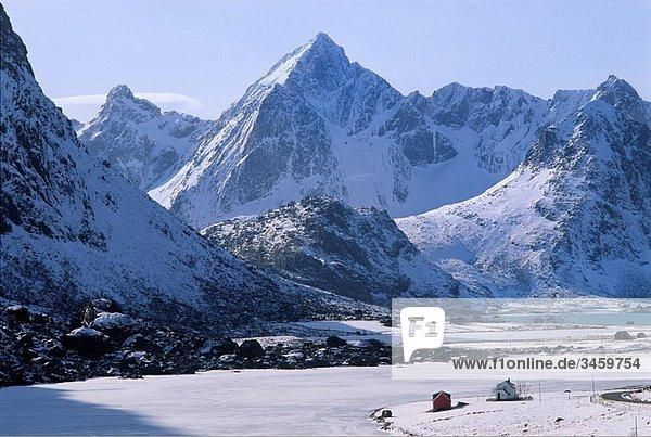 Norway  Nordland  The Lofoten Islands in winter