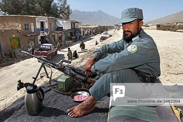 Afghan National Police being trained by ISAF/ Eupol in the trainingcentre in Tarin Kowt  Uruzgan