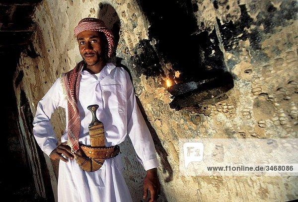 Asia Yemen Shabwa  ancient caravan city portrait