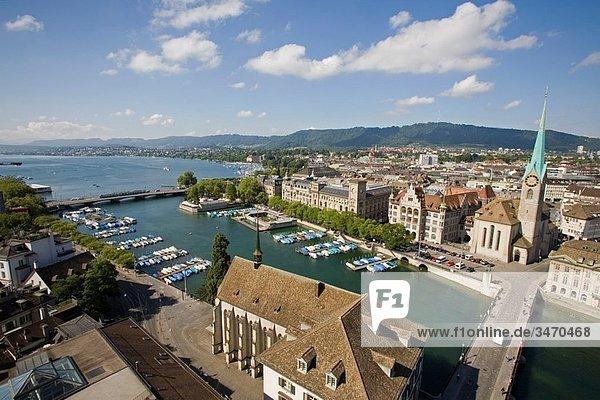 Europa  See  Fluss  Schweiz  Zürich