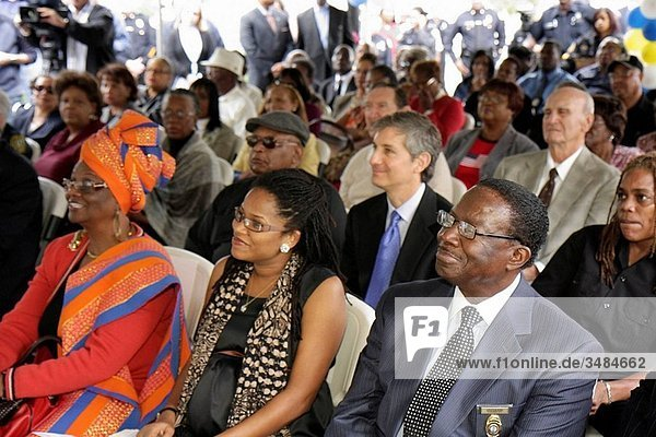 Florida  Miami  Overtown  Black Police Precinct and Courthouse Museum  grand opening  ceremony  community event  history  heritage  segregation  racial discrimination  Black  woman  man  VIP  dignitaries  Commissioner Michelle Spence_Jones  audience