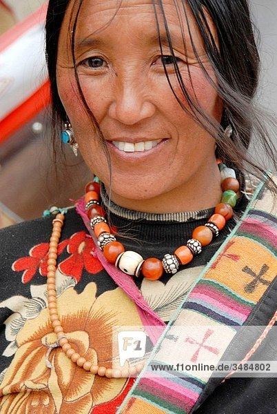 Tibetan people  Tongren  Qinghai province  China