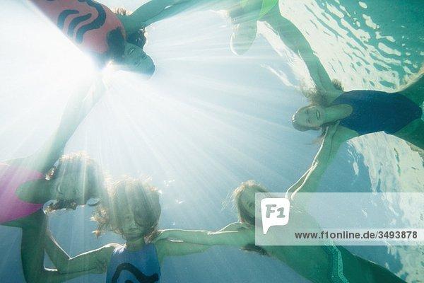 Synchronschwimmer  Gesichtskamera