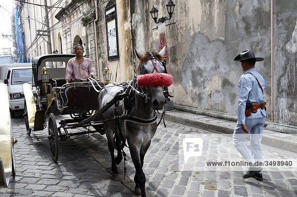 Philippines  Manila  carriage in the old town