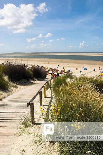 Strand auf Langeoog  Deutschland