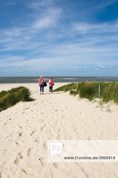 Beach on Langeoog  Germany