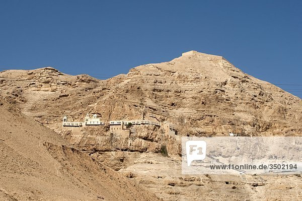 Israel  West Bank  Jerico  Temptation Mount  Qurantul Monastery