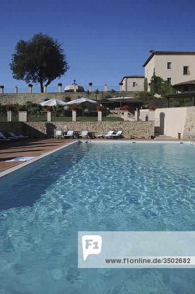 Hotel Schwimmbad Italien Siena Toskana