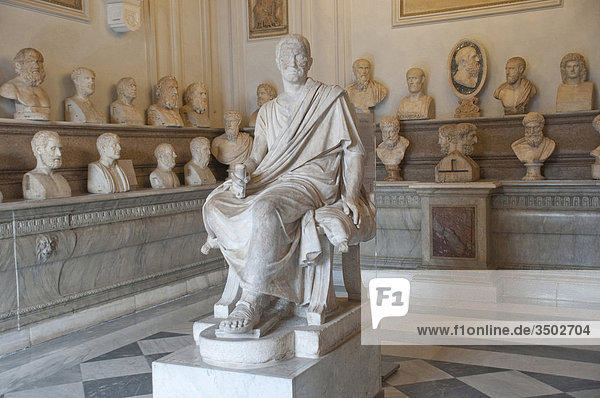 Italy  Rome  Capitoline Museum  Palazzo Nuovo  Hall of the Philosophers