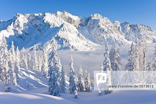 Winterlicher Sonnenaufgang am Hochkönig  Österreich