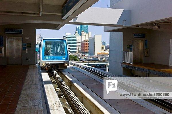 Metromover Station Downtown Miami Florida USA