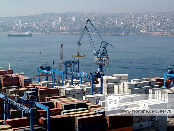 The Port of Valparaiso in Chile  South America
