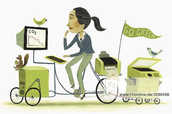 Umweltfreundliche Geschäftsfrau