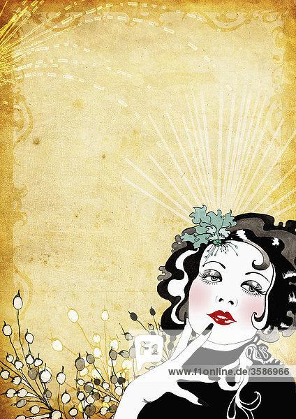 Glamouröse Frau im Retrolook