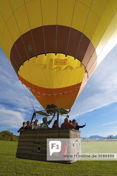 Heißlufballon  Allgäu  Bayern  Deutschlanda  Europa Heißlufballon, Allgäu, Bayern, Deutschlanda, Europa