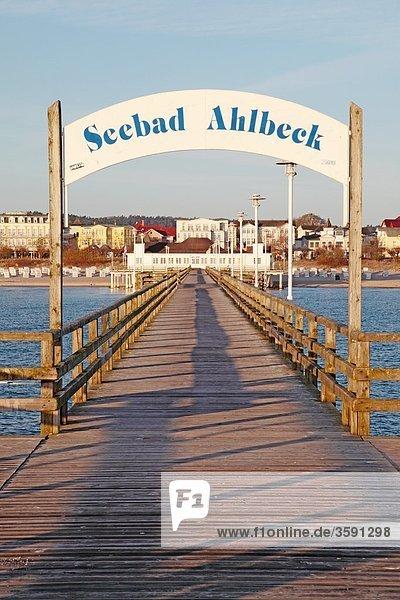 Seebrücke Ahlbeck  Usedom  Deutschland