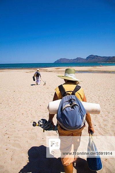 Beach  Son Serra de Marina  Bay of Alcudia  Majorca  Balearic Islands  Spain